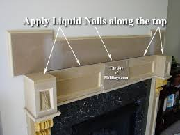 how to build a fireplace mantel from mdf board