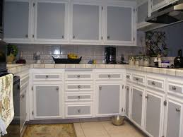 White And Gray Kitchen Kitchenwhite Kitchen Cabinet Grey Door Brown Tile Floor Ceramic