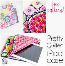The Pretty Quilted iPad Case {free pattern} — SewCanShe   Free ... & The Pretty Quilted iPad Case {free pattern} — SewCanShe   Free Sewing  Patterns for Beginners Adamdwight.com