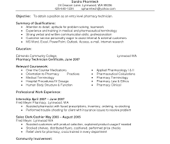 Pharmacy Technician Resume Sample Resume Templateple Pharmacist Example Of Objective Hospital 59