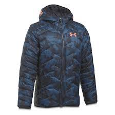 under armour puffer jacket. under armour boys\u0027 coldgear reactor insulated hooded jacket, midnight navy puffer jacket c