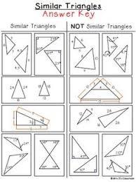 similar triangles sorting activity freebie