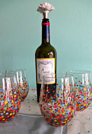 diy confetti wine glass paint