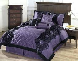 raven bed set comforter set purple w black fl flocking baltimore raven bed set