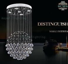 spotlight big crystal pendant lamp large ball modern luxury light led lamps dining hallway hanging table
