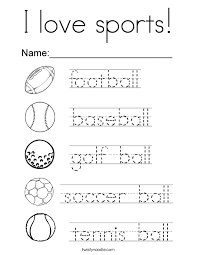 Small Picture I love sports Coloring Page Twisty Noodle
