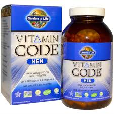 garden of life vitamin code raw multivitamin for men