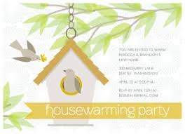Printable Birdhouse House Warming Invitation Template