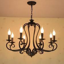 <b>Bar rustic</b> Iron chandelier lamps <b>Antique</b> industrial lighting E14 6-8 ...