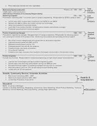 Hybrid Resume Format - Second Page
