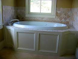 tile and trim detail on garden tub