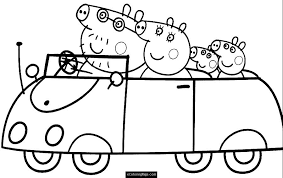 Small Picture Car Family Peppa Pig Coloring Pages 30724 Bestofcoloringcom