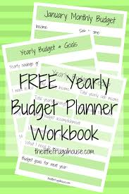 Free Budget Planners A New Year A New Budget Free Yearly Budget Planner The Little
