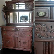 Antique Cupboard Designs Antique Cabinet With Beveled Mirror Marinus Home Seattle