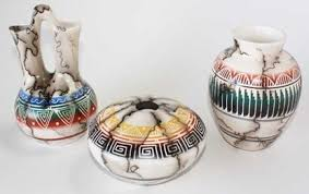 navajo pottery designs. HORSE HAIR COLORED BAND POTTERY 045 - Navajo Handmde Pottery Vase \u0026 Ceramic Pot, Horsehair Design Designs N