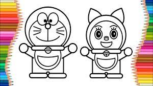 Benvenuti sulla pagina ufficiale di doraemon! Doraemon And Dorami Coloring Pages For Kids Learn Drawing For Childrens Youtube