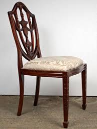 hepplewhite shield dining chairs set:  setenglishmahoganyadamshepplewhitediningchairs