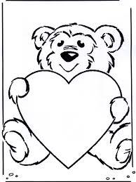 Valentijn Beertje Kleurplaten Valentijnsdag