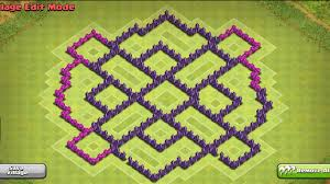 town hall  hybrid base defense clash of clans  youtube