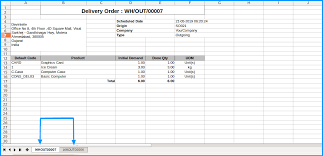 Excel Delivery Export Delivery Order Odoo Apps