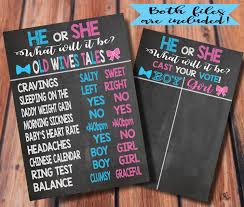 Gender Wives Tales Chart Instant Download He Or She Old Wives Tales Gender Reveal Baby Shower Voting Chart 2 Sizes Available
