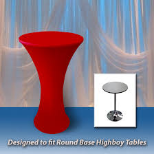 spandex round fitted tablecloth for 30 round highboy table 42 tall with round