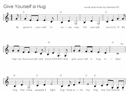 sheet music for kids music for special kids give yourself a hug