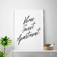 print home sweet apartment printable