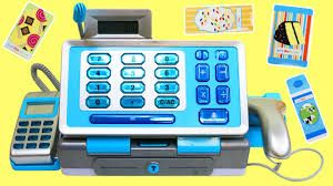 just like home toy cash register with real scanner working calculator you