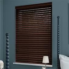 dark mahogany faux wood blind 50mm slat