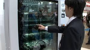 High Tech Vending Machines Unique Futuristic Vending Machine With Transparent Touch Screen Walyou