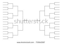 Tournament Bracket Blank Template Vector Download Free Vector Art