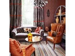 Burnt Orange And Brown Living Room Property Simple Design