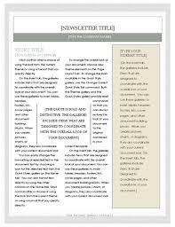 Microsoft Word Newsletter Free Newsletter Template Microsoft Word Newsletter Template