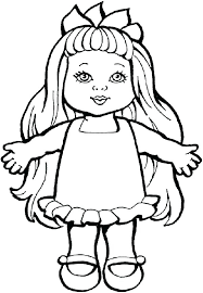 Baby Doll Coloring Page Alive Book Pages To Miss Lol P Porongurup
