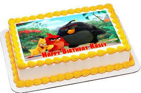 The Angry Birds Movie Edible Cake Topper & Cupcake Toppers