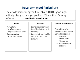 Agricultural Revolution Chart Development Of Civilization Ppt Video Online Download