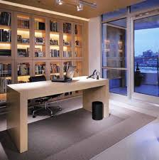 interior artistic home with office design and rectangle shape cream color wooden desk black silver colors artistic home office track