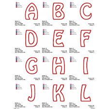 Letters In Design Letters A To Z Applique Birthday Monogram Fonts Alphabet
