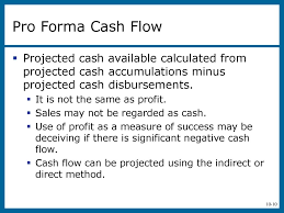 Pro Forma Cash Flow Projections Chapter 10 The Financial Plan Ppt Download
