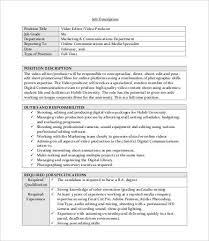 video editor job description copywriter job description