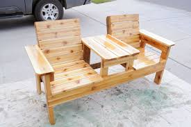 Enchanting Homemade Patio Furniture Free Patio Chair Plans How To Build A  Double Chair Bench With Table