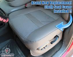2006 2009 dodge ram 2500 st work truck base cloth seat driver bottom gray