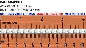 10 Aluminum Ball Chain Spool