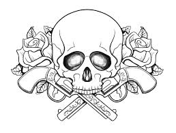 Small Picture Skull coloring pages guns and roses ColoringStar