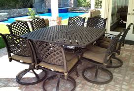 aluminum patio chairs. Cast Aluminum Patio Furniture 9pc Outdoor Dining Set With 64 Square Table  Bronze Chairs N
