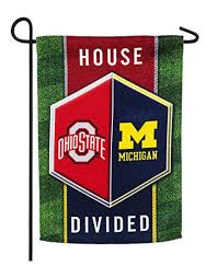 michigan ohio state house divided suede garden flag