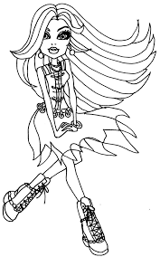 Small Picture coloring page Monster High Clawdeen Wolf Books Worth Reading