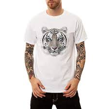 <b>Men's Summer Fashion New</b> Tiger Print O-Neck Short Sleeve T-Shirt ...