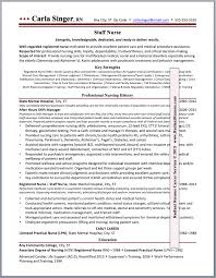 Registered Staff Nurse  Second Career Resume Sample